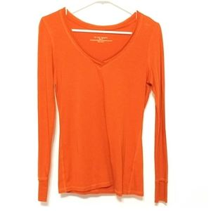 For the republic small burnt orange long sleeve